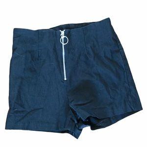Twik Shorty super cute shorts black zipper Small